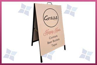 Custom Printed A-Frame A-Board - Graze
