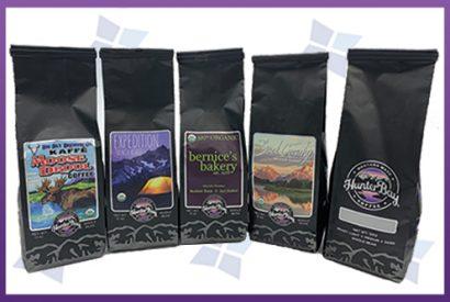 Custom Printed - Side Gusset Bags - Coffee