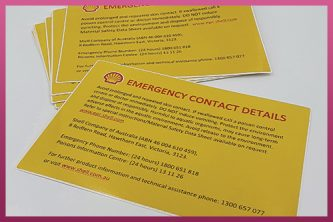 Custom Printed Industrial Use Stickers - Shell Emergency