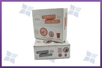 Custom printed Folding Cartons - Bamboo Dinnerwear