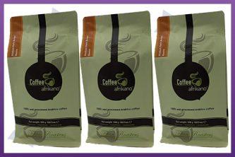Flat Bottom Zipper Pouches - Coffee Afrikano