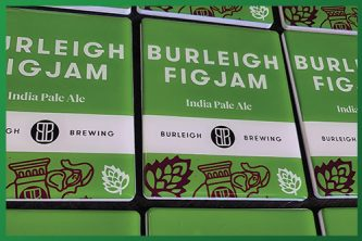 Resined Badge Beer Taps - Burleigh Figjam