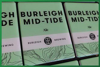 Resined Badge Beer Taps - Burleigh Mid Tide