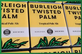 Resined Badge Beer Taps - Burleigh Twisted Palm