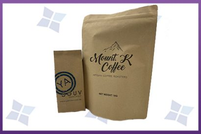 Coffee Bags & Pouches - Kraft Paper laminate