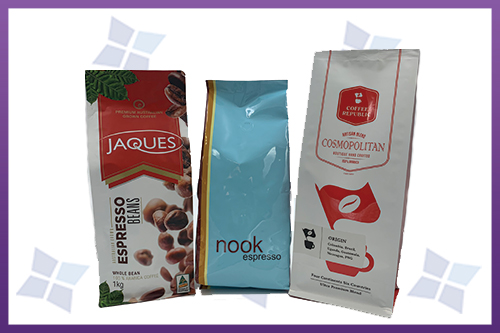 Flat Bottom Pouches - Coffee Various