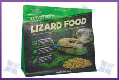 Flat Bottom Pouches - Lizard Food Packaging