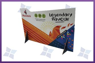 Custom Printed Counter Display Cartons - Nando's