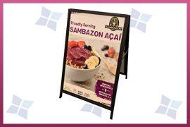 Custom Printed A Frame A-Board - Sambazon