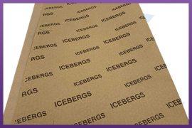 Custom Printed Greaseproof Paper - Icebergs