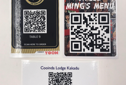 Custom printed QR code stickers – COVID table top sticker – various